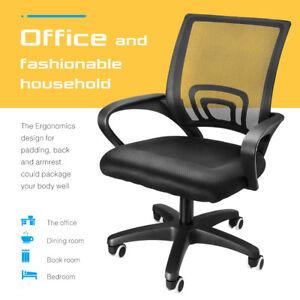 Chefsessel-Buerostuhl-Mesh-Computer-Armlehne-Drehstuhl-Schwarz-Schreibtischstuhl