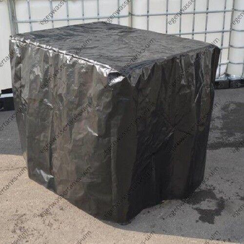 Gitterbox IBC UV- Folie Schutzhülle für Tank 1000 l Schwarz