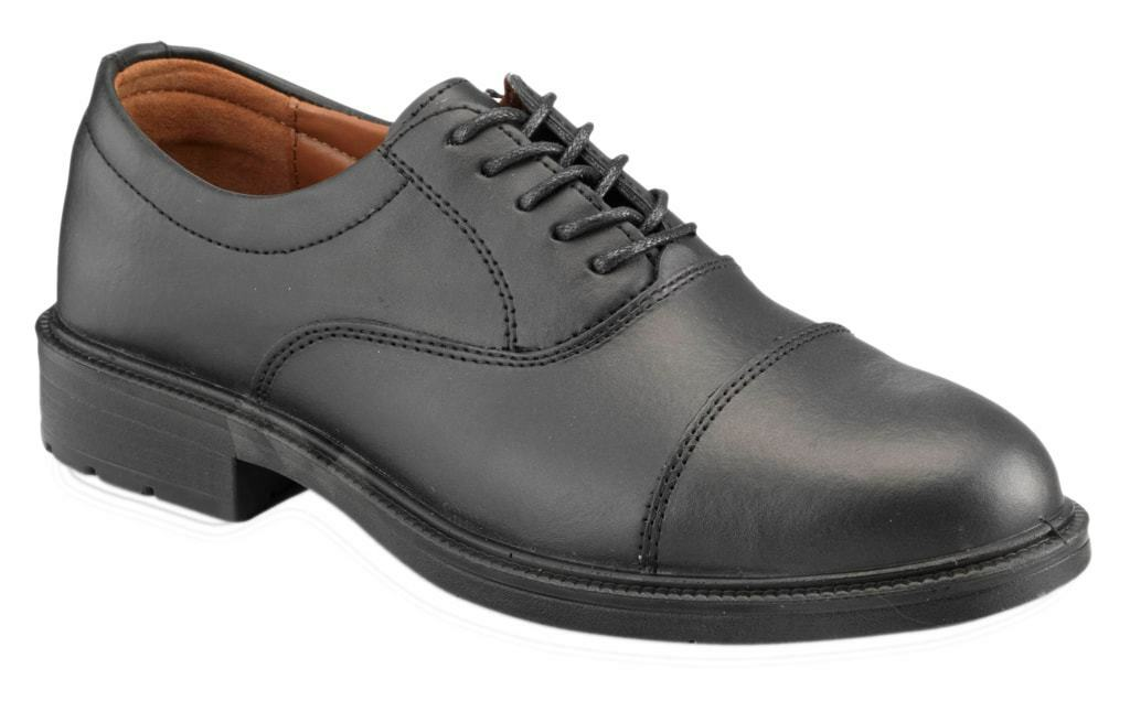Mens Black Oxford Safety Shoe Various Size S209
