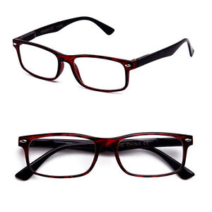 Classic-Square-Frame-Reading-Glasses-Readers-Tortoise-Colors
