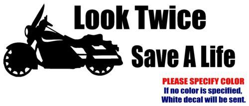 "Mira dos veces salvar una vida # 2 Decal Sticker Jdm Gracioso Vinilo coche ventana de parachoques de 12 /"""
