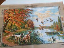 "Printed Needlepoint tapestry canvas 60x90cm 24/""x35/"" 60x90 canvas ROYAL PARIS"