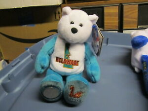 50-State-Club-Bean-Bag-Bear-Delaware-with-coin-NEW-With-Tag