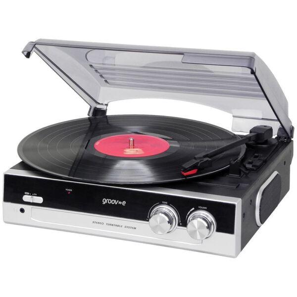 groov e retro series gvtt01bk vinyl record player black for sale online ebay. Black Bedroom Furniture Sets. Home Design Ideas