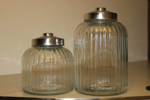 Schöne Bonboniere  aus Glas♥ in 2 Größen erhältlich♥Vorratsglas♥Rillenglas