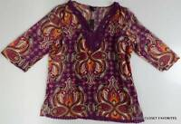 East 5th Women's Size Large Two-piece Tunic Blouse & Tank Top Set 12 14