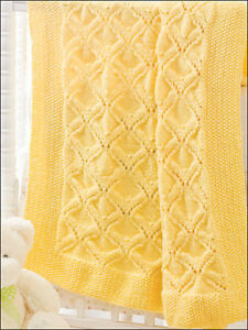 Angels Wings Aran Baby Blanket 34 Quot X 34 Quot Knitting Pattern