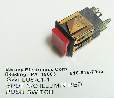 Momentary Pushbutton Switch Solder Switchcraft LUS-01-1 250mA 30W SPSTN.O
