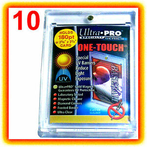 10-Ultra-Pro-ONE-TOUCH-MAGNETIC-180pt-UV-Card-Holder-Case-82233-UV-Trading-Sport