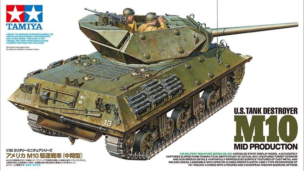 Tamiya 35350 1 35 Scale Model Kit U.S Tank Destroyer M10 Mid Production