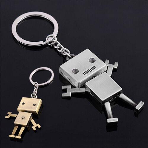 Movable Metal Robot Keychain Keyring Keys Chain-Ring Bag Purse Pendant Gift x!