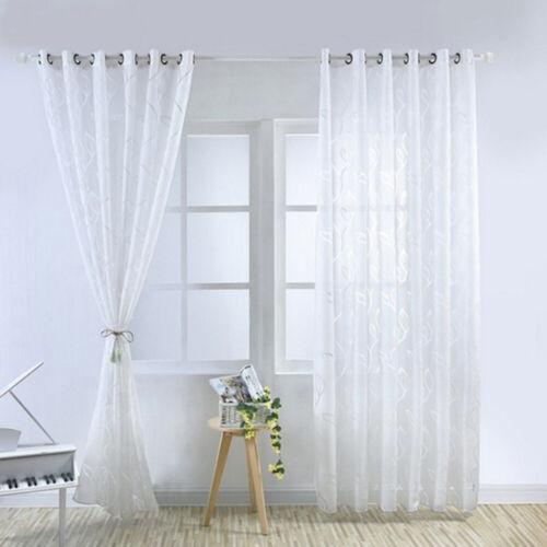 Leaves Pattern Tulle Curtain Lattice Yarn Bedroom Vine Bubbles 100*200cm Curtain