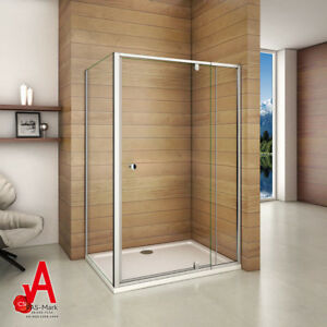Image Is Loading 1200x800mm Semi Frameless Shower Screen Pivot Door Width