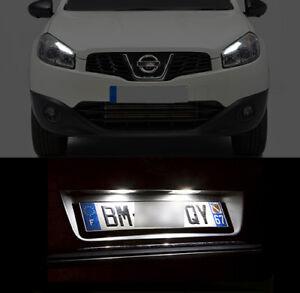 4-ampoules-a-LED-blanc-feux-de-plaque-feux-de-position-pour-Nissan-Qashqai