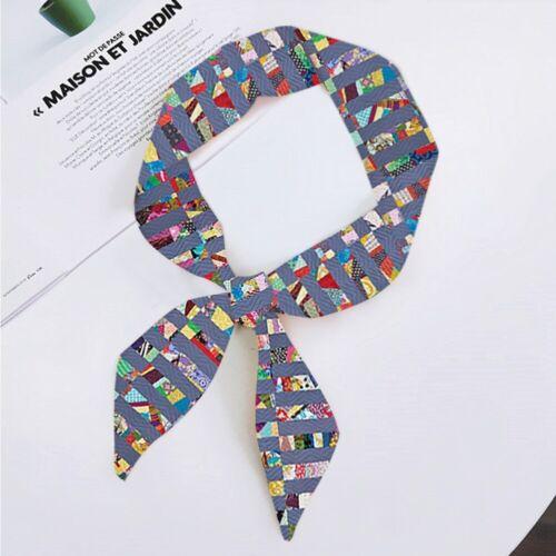 Women Long Ribbon Silk Scarf Neck Scarves Neckerchief Hair Band Bag Handle Wraps