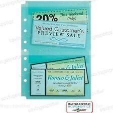 Martha Stewart Avery Sheet Protectors 55 X 85 Secure Top Load Teal 2 Pockets