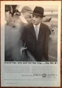 Timely Clothes Ad 1959 Original Vintage Print 1950s Men S Fashion Suit Airplane Ebay