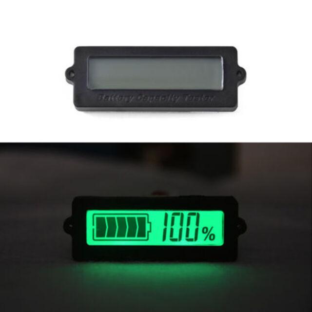 12V Remaining Power Monitor Lead Acid LiPo Battery Voltmeter Capacity Indicator