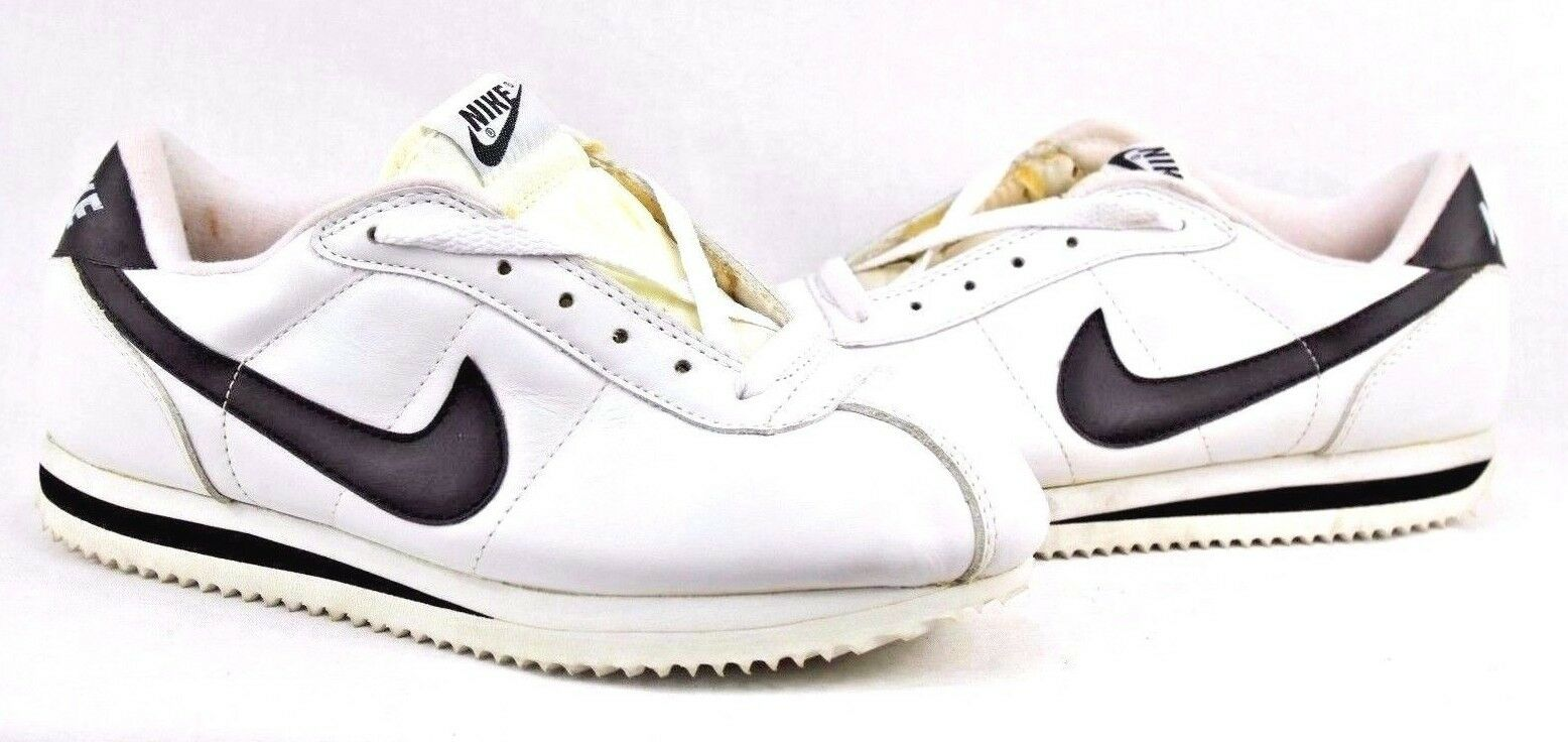 Nike 1999 1999 Nike Leather Cortez 2108-00 blanc / Noir Display Chaussures 8dac39