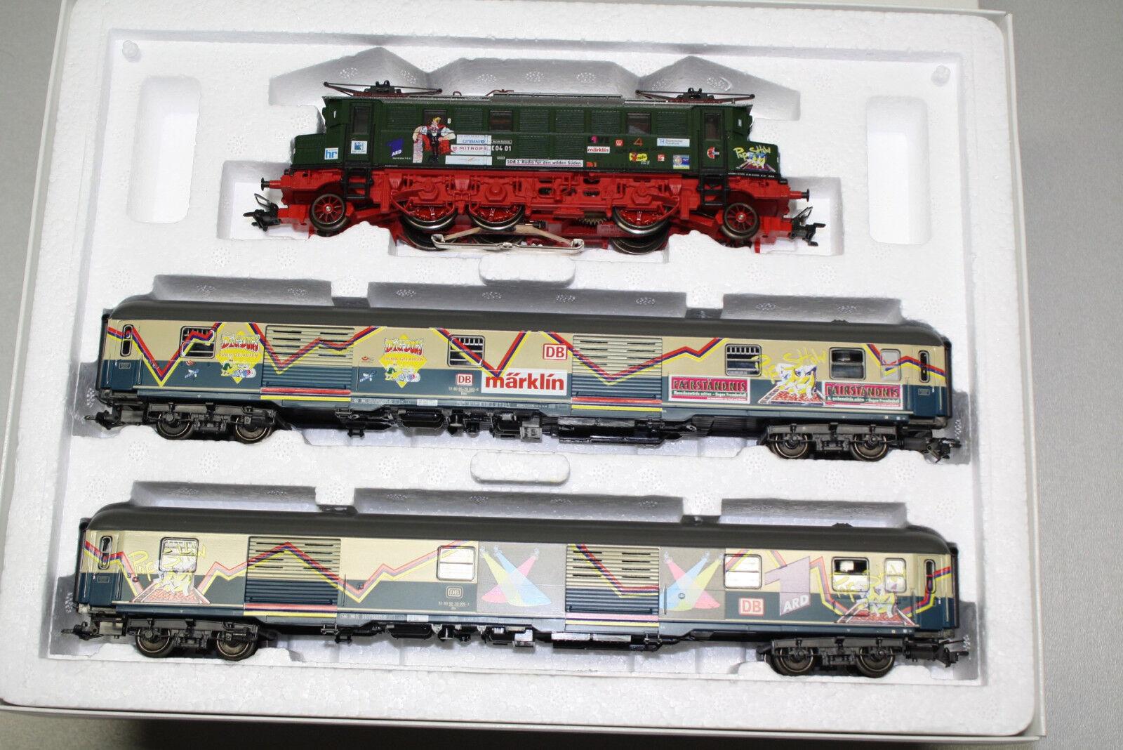 marklin 2872 Set Treni Poptrain Medienzug con Romualdo Serie Br E04 Scala H0 Ovp