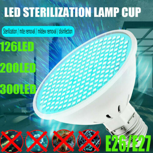 E26//E27 GU UVC LED Sterilizer Lamp Kill Mite Ultraviolet Disinfection Light Bulb