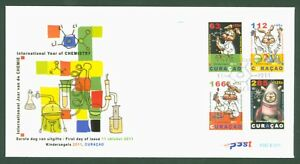 Curacao 2011 - Jugend Internationales Jahr der Chemie Kinderzegels Nr. 57-60 FDC