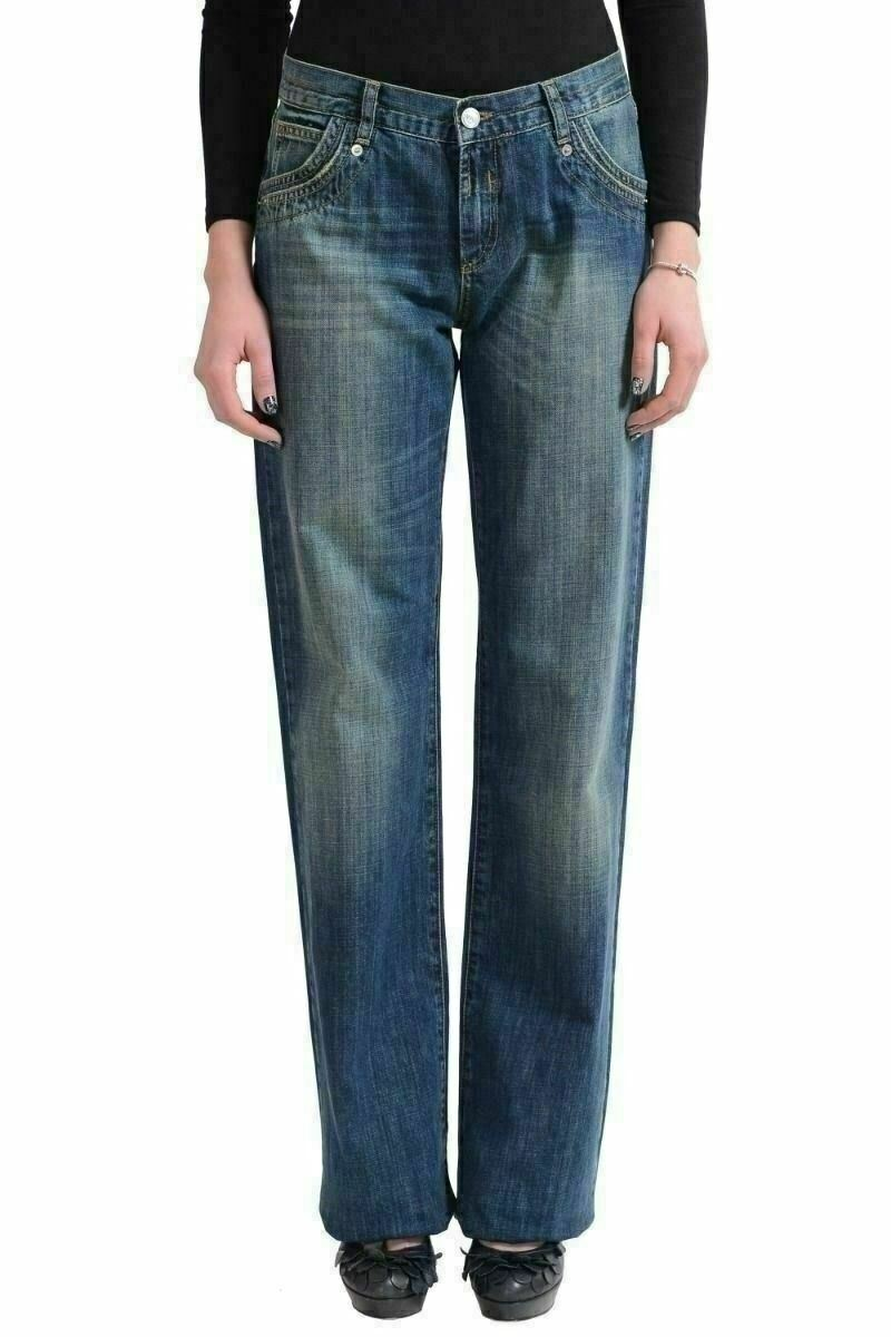 Versace Jeans Couture Medium Wash Denim Straight Legs Women's jeans US 7 IT 29