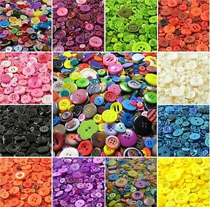 Assorted-Mixed-Buttons-Arts-Crafts-Card-Making-Scrapbooking-Sewing-Round