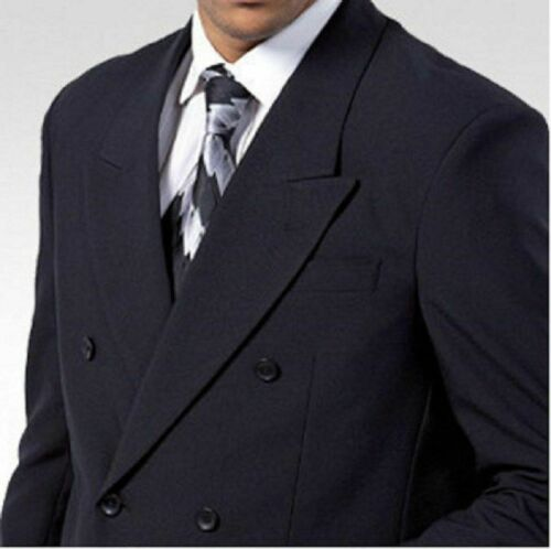 Black White 38R~58L Men/'s High Quality Double Breasted Suit Jacket+pants
