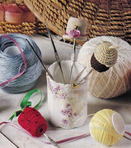 VINTAGE Crochet Hook Protectors//Crochet Pattern INSTRUCTIONS ONLY