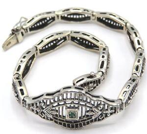 Emerald-Bracelet-Emerald-925er-Silver-20-0-CM