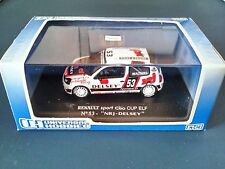 RENAULT SPORT CLIO CUP DELSEY 1/43 COLLECTION VOITURE UNIVERSAL HOBBIES UH2363