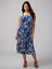 Lane-Bryant-Womens-Convertible-Midi-Dress-Plus-size-14-16-Blue-Floral-1x thumbnail 1