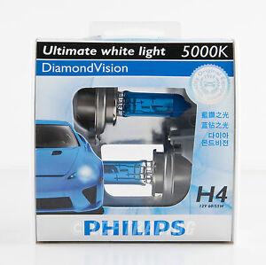 2013 genuine philips 5000k diamond vision h4 halogen bulb 12v 60 55w 2pc ebay. Black Bedroom Furniture Sets. Home Design Ideas