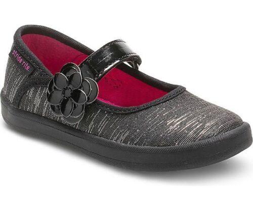 NIB Stride Rite Mary Jane Shoes Marleigh Black Silver 6.5 8 8.5 10.5 11 11.5 12
