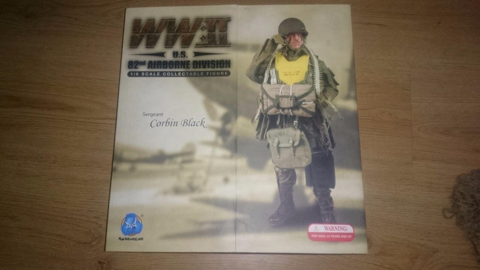 Hizo Dragon Segunda Guerra Mundial US Americano 82nd Airborne Medic Corbin figura Negra-Nuevo En Caja