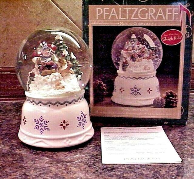 Nordic Santa Snow Globe