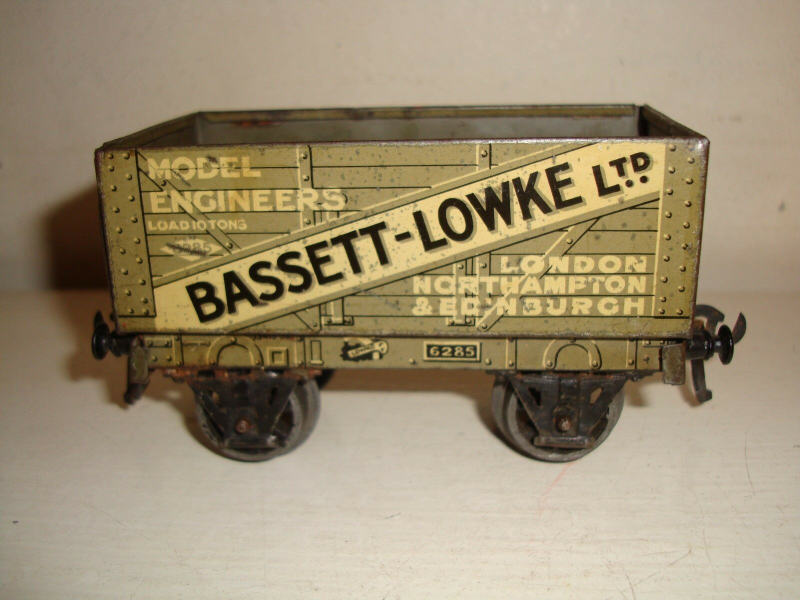 Bassett-Lowke O - 7plk Open Wagon  Bassett-Lowke model engineers(6285)good-c1928
