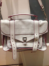 Proenza Schouler PS1 Leather Bag Color Baby Blue with Red  !!! TB