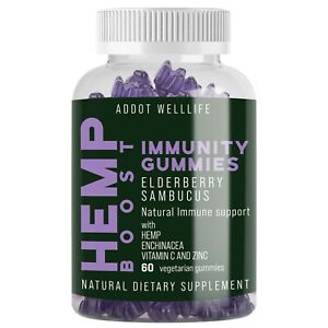 Natural Immunity gummies- elderberry sambucus, echinacea, vitamin c, zinc, vegan