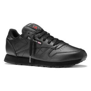 Dettagli su Scarpe da donna uomo Reebok Classic Leather 3912 Nero sneakers sportiva pelle