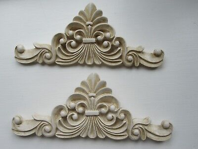 TWO  BEAUTIFUL DECORATIVE  FRENCH COUNTRY STYLE FURNITURE// FIREPLACE MOULDINGS