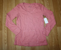Womens Lizwear Pink Pullover Long Sleeve Shirt Top Size S Small