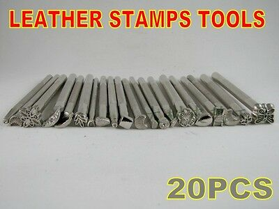 LOT OF 20 LEATHER WORKING SADDLE MAKING TOOLS CRAFTOOL LEATHER CRAFT STAMPS NEW