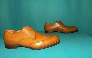 chaussures luxe BONORA calzolai dal 1878 en cuir camel fait main pointure 8,5 uk