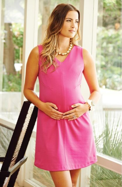 edcc355002b NWT Maternal America Princess Shift Maternity Dress sz LARGE  148   Hot Pink