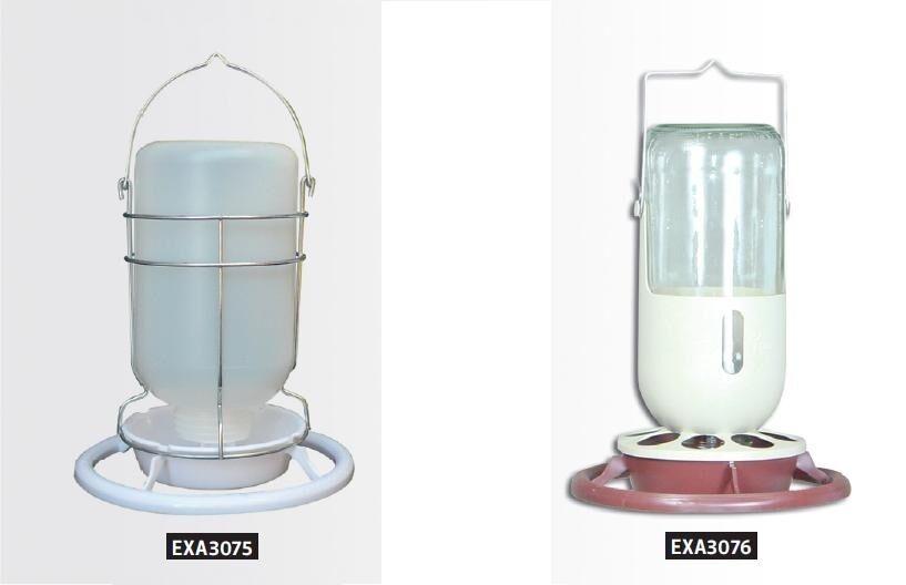 Bird Aviary Glass Water Dispenser Countainer Big Fountain Drinking - 1 Liter