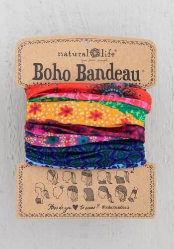 Natural Life Boho Bandeau Wear 12 ways//FACE MASK MULTI COLOR STRIPE bbw127