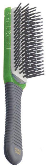 Kent Small CANDY Hairbrush GREEN Cushion Nylon Ball Tipped 5 Row BRUSH