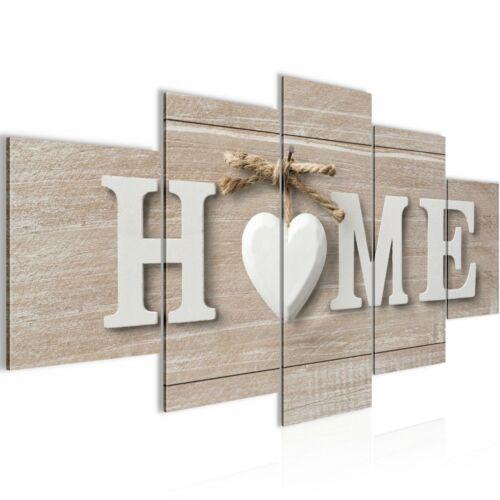 Wanddeko Home Holz Kunstdruck Leinwand aus Vlies Bild Bilder Wandbild XXL